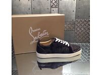 Black Camo Silver Spike Christian Louboutin Low Top Trainers