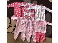 Baby Girl Sleepwear Bundle Age 3/6 Months