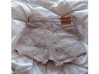 Levi's Tan Denim Shorts