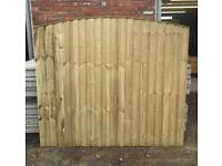 🌈 High Quality Heavy Duty Tanalised Arch Top Wooden Garden Fence Panels