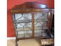 Antique Edwardian Rosewood Glazed Display Cabinet