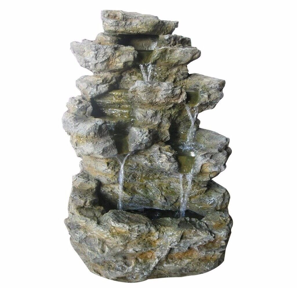Charles Bentley Large Stone Effect Outdoor Water Feature Fountain