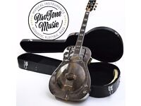 Ozark 3515BTE Thinline Biscuit Electro Resonator& Hard Case