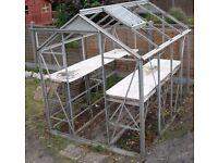 Glazed Metal Greenhouse