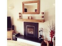 Oak Beam, Fireplace beams, Stove, Floating Mantel, Stove Surrounds, Timber Beam, Mantle, Glulam