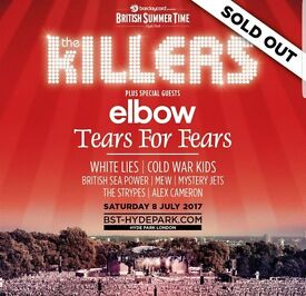 The Killers. British summer time in thr park . The Killers along with Elbow and many otheres .