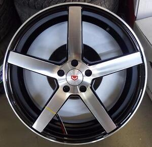 NEW!! 20 CONCAVE! BLACK MACHINED FACE -- WHEELS AND NEW TIRES!!  mdx cts sts edge escape BMW MERCEDES - 221