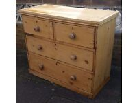 Lovely antique pine chest of drawers