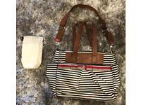 Babymel Cara Navy Stripe Changing Bag