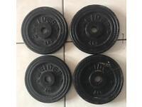 4 x 4kg Weider Weight plates