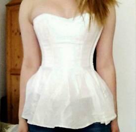 Overbust steel boned peplum corset