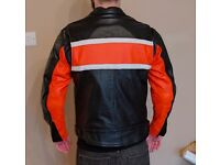 """Leather Motorcycle Jacket - 38"""" Chest"""