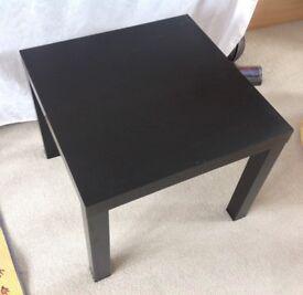 Ikea square black table