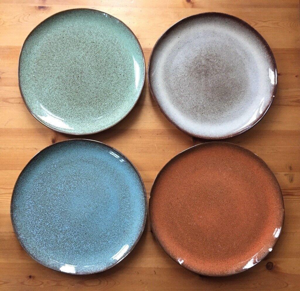 Hand-made Portuguese ceramic plates x4 & Hand-made Portuguese ceramic plates x4 | in East Dulwich London ...