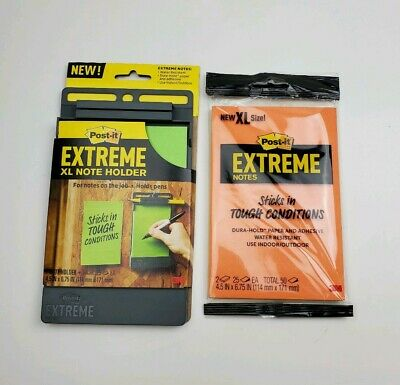 Post-it Extreme Xl Note Holder And Refill Set
