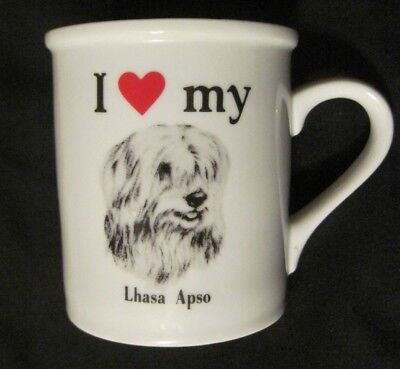 I Love My Lhasa Apso Dog Ceramic Mug Cup Canine Dog Lovers PAPEL USA