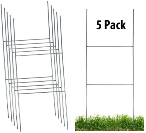 Sturdy Metal H Frame Wire Step Stakes for Yard Signs(10 x 24 inch)(Stakes Only)