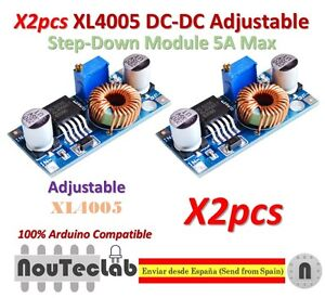 2pcs-XL4005-Step-Down-Adjustable-Power-Supply-Module-LED-Lithium-Charger-Board