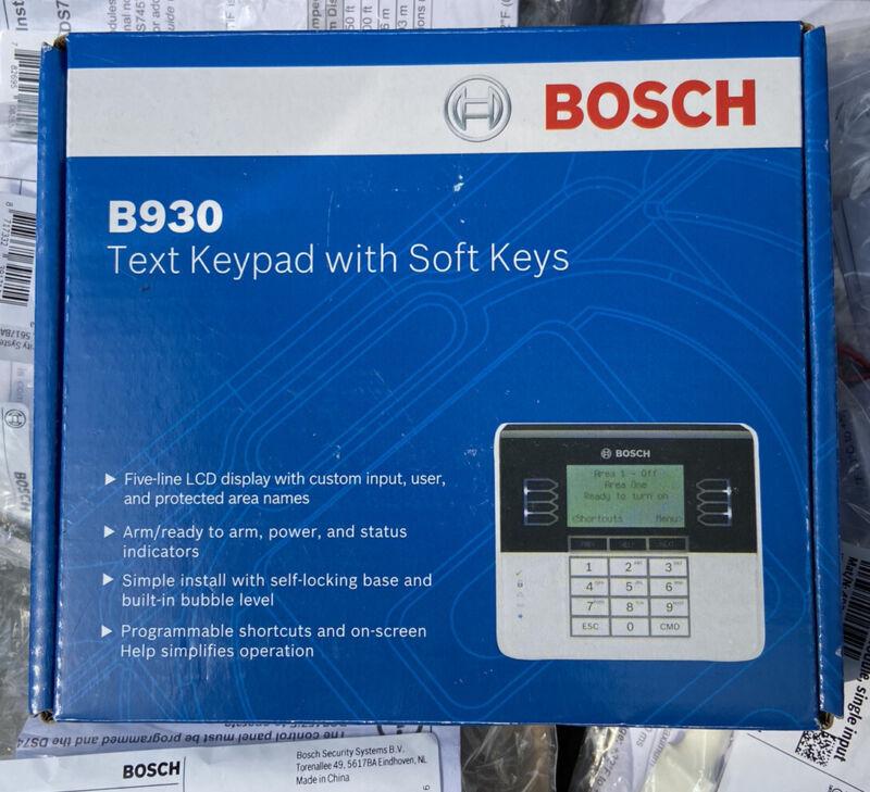 BRAND NEW SEALED Bosch B930 Text Keypad with Soft Keys