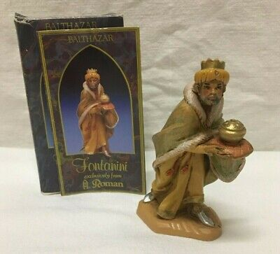 "Fontanini King Balthazar 1992 Wisemen Nativity Set 5"" Figurine #72516 Heirloom"