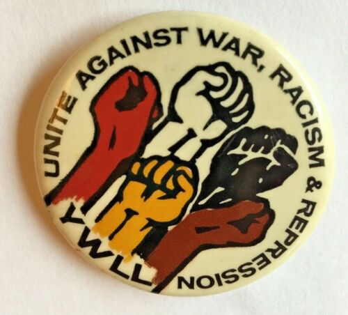 Young Workers Liberation League Pinback Button YWLL YCL Anti-racism Anti-war