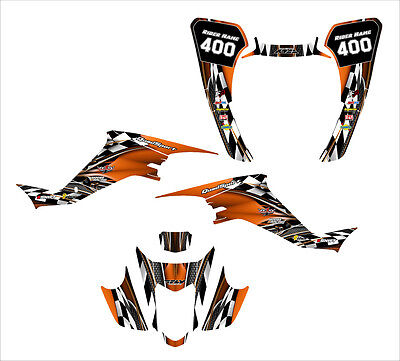 Suzuki LTZ400 KFX 400 graphics kit for 2003 2004 2005 2006 2007 2008 #2500ORANGE