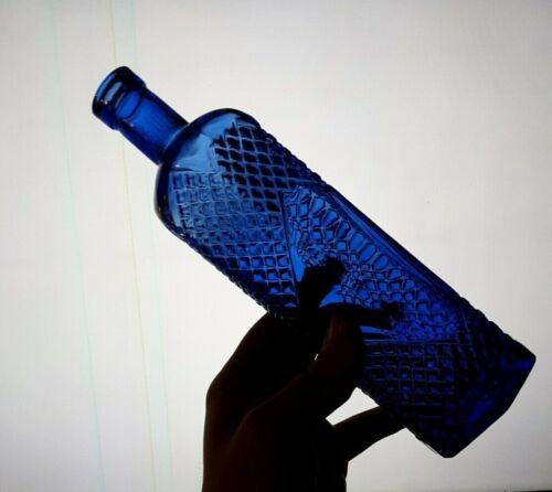 1890-1905 Cobalt Blue Poison Bottle. 100