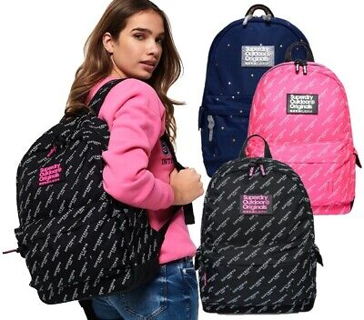 SuperDry Print Edition Montana Rucksack 21L School Backpack Casual Bag NEW