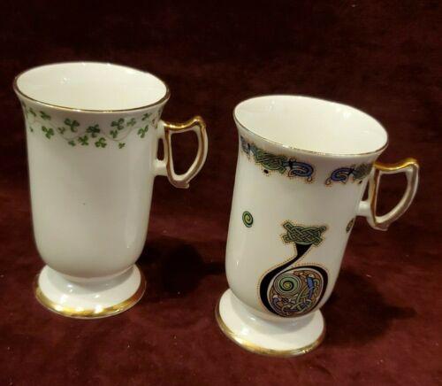 Royal Tara Ireland Celtic Design 2 Tall Mugs VG