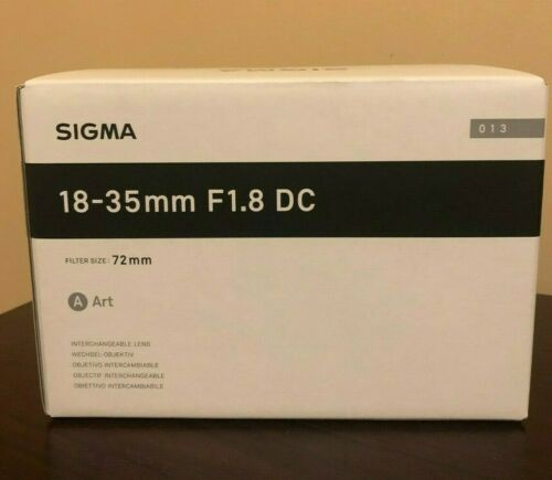 Sigma 18-35mm f/1.8 DC HSM Art Standard Zoom Lens for Canon Black 210101