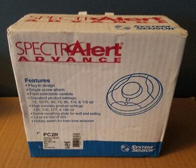 System Sensor Spectralert Pc2r Ceiling Mount Fire Selectable Horn Strobe Nib