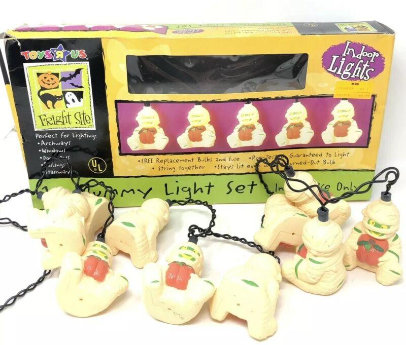 Vintage Mummy String Lights Halloween Party Decor Toys R Us Blow Mold RARE HTF