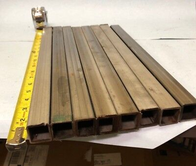Lot Of 8 Pcs 1 Stainless Square Tube X 116 Wall From 16 To 17 Long