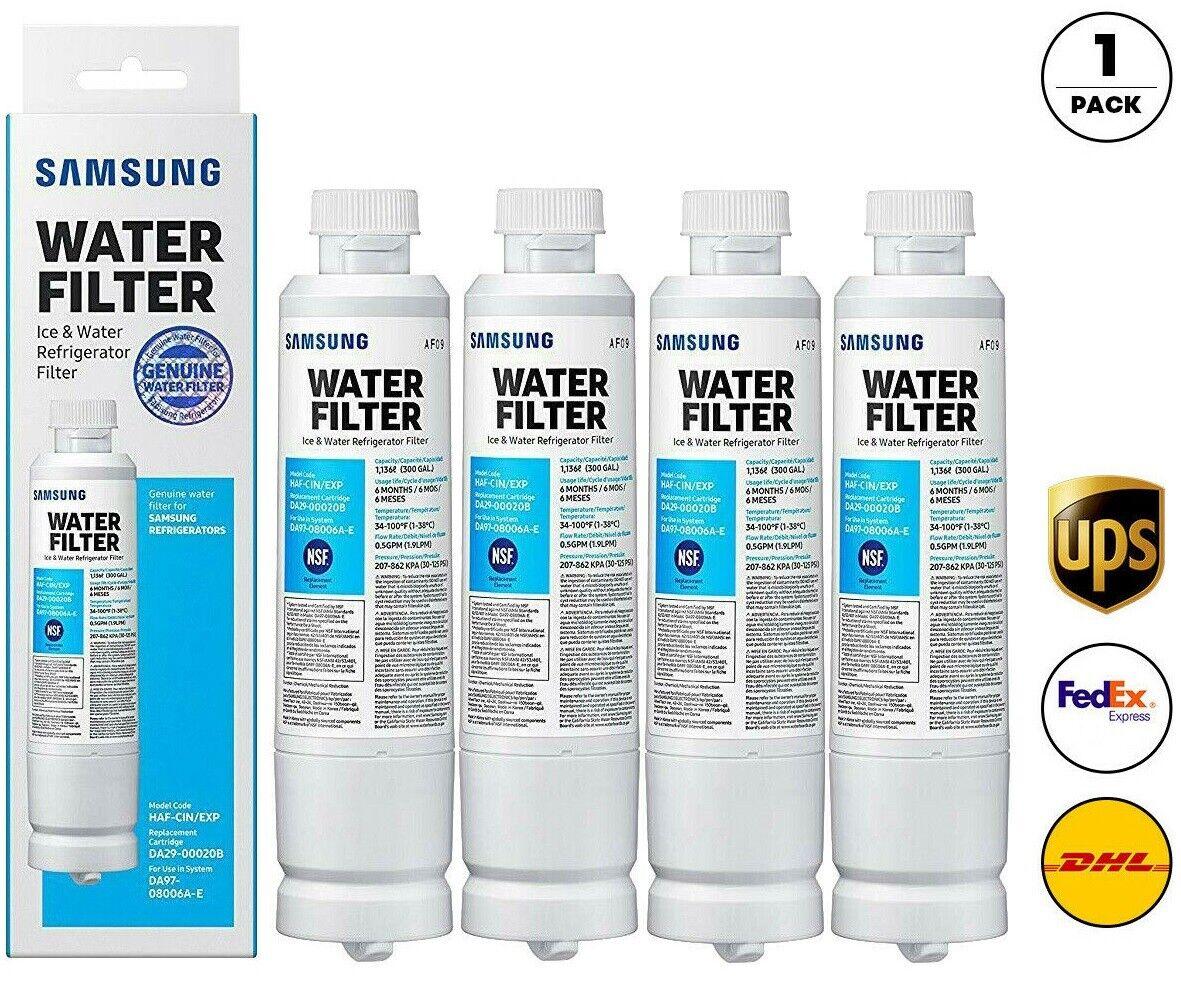 4Pack Samsung DA29-00020B HAF-CIN/EXP Refrigerator Fresh Water Filter Cartridge