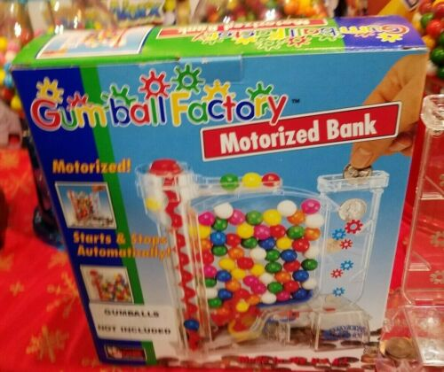 Motorized Gumball Factory machine Bank fun for all ages made USA like on TV