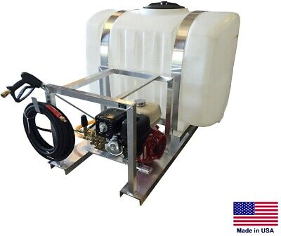 Pressure Washer Commercial - Skid Mounted - 4 Gpm - 4000 Psi - 200 Gallon Tank