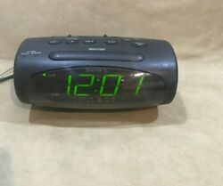 Sony Dream Machine AM FM Dual Alarm Black Clock Radio Model ICF-C490 Working