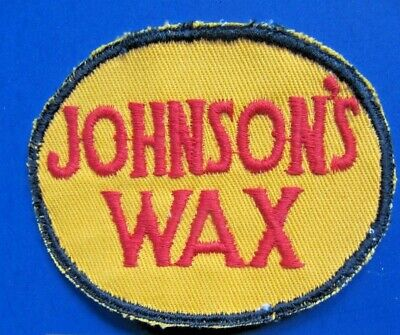 JOHNSON'S WAX  Cloth Embroidered Patch -Vintage NOS
