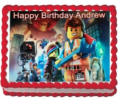 The Lego Movie Edible Cake Topper Icing Image Party Personalized