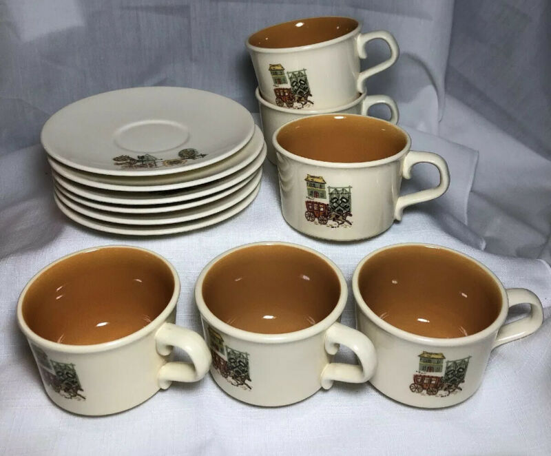 Taylor, Smith & Taylor Cape Cod Pattern Cups And Saucers