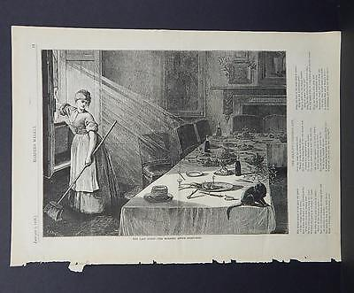 HARPER'S WEEKLY Single Page S3#090 Jan 1876 The Last Guest - After Christmas ()