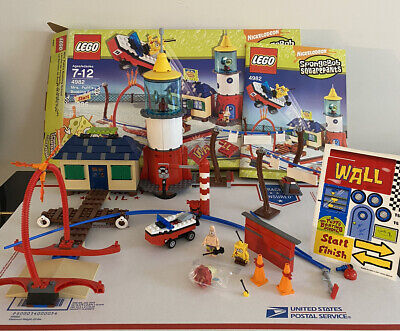 LEGO 4982 SpongeBob Mrs Puffs Boating School 100% Complete Set Box Instructions