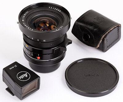 Leica Elmarit-M 2,8/21 No.3212506 + Leitz FINDER 21mm with Etui Fast wie NEU !!!