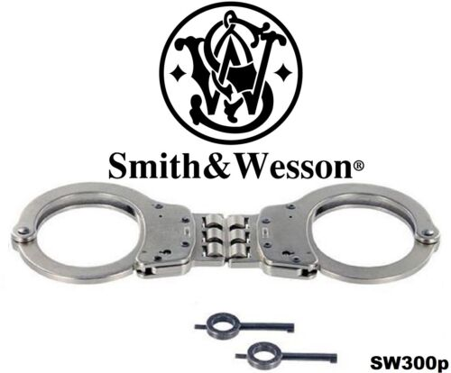 Smith & Wesson Model 300P Satin Nickel Police & Security Hinged Handcuffs
