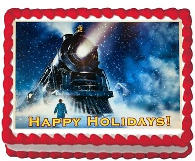 Polar Express-party (Polar Express Party Icing Edible Cake Topper Image Frosting sheet Decoration)