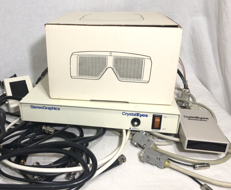 StereoGraphics CrystalEyes GDC-3 Display Controller + Emitter E-PC + Glasses
