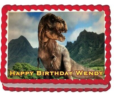 Jurassic Park  Edible Cake Topper Image Decoration Party frosting icing sheet