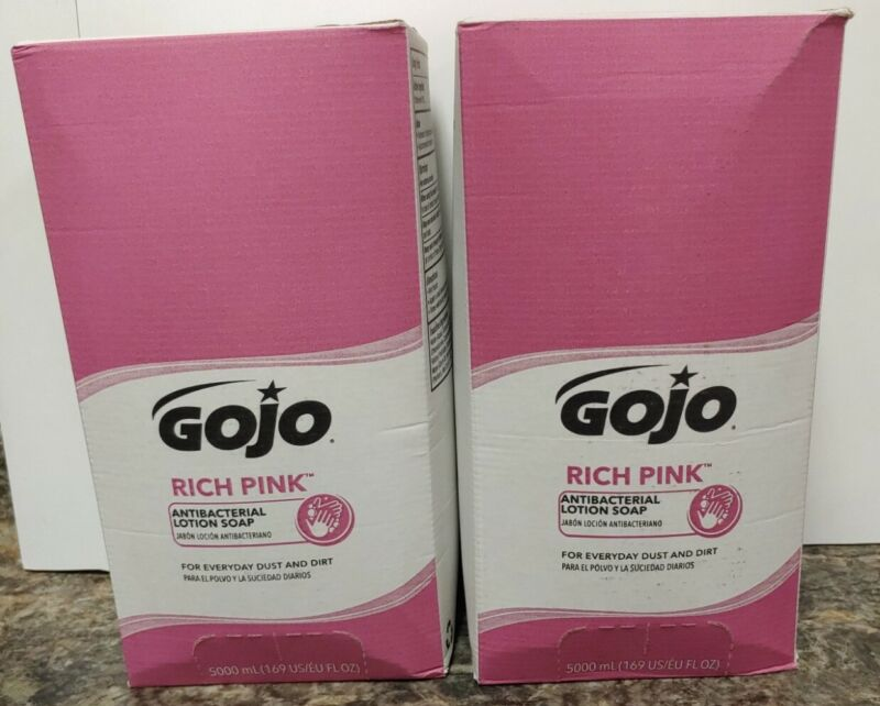 GOJO RICH PINK Antibacterial Lotion Soap 5000 mL Refill 7520 (Case of 2)