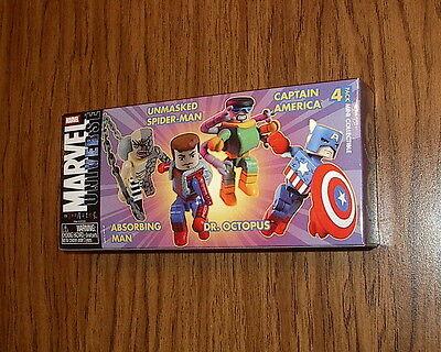 MARVEL UNIVERSE MINIMATES 4 PACK Captain America,Absorbing Man,Doc Ock,SpiderMan