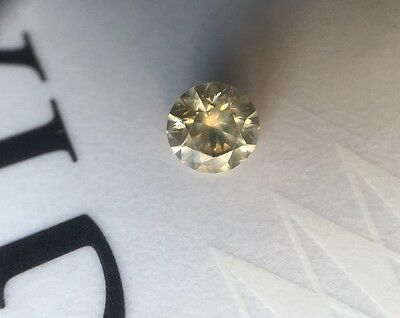 GIA NATURAL 1.03CT DIAMOND  RARE  COLOR FANCY Br/GREENISH/Yel VG CUT/SYM Amazing